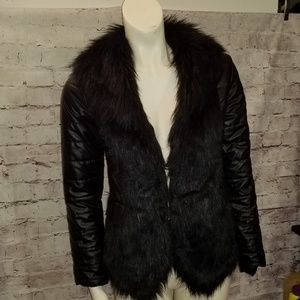 Jackets & Blazers - FUR TRIMMED JACKET